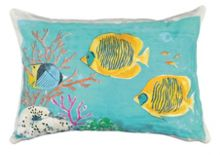 Marinette Saint-Tropez Embroided Marine B Cushion