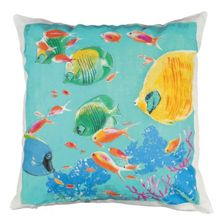 Marinette Saint-Tropez Embroided Marine A Cushion
