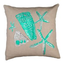 Marinette Saint-Tropez Embroided Stars and Shell Cushion