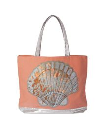 Marinette Saint-Tropez Coral and Shell Shopping Bag