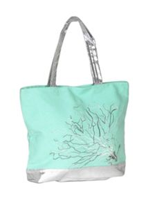 Marinette Saint-Tropez Lagoon Coral Shopping Bag