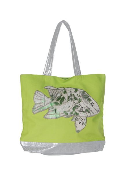 Marinette Saint-Tropez Lime Fish Shopping Bag