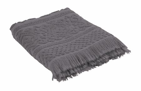 Marinette Saint-Tropez Astone Dark Grey Bath Towel - 70/130cm