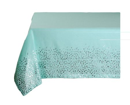 Marinette Saint-Tropez Perla Lagoon Silver Table Cover