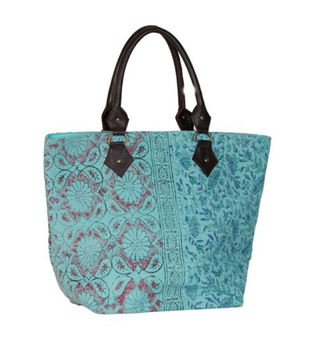 Marinette Saint-Tropez Aqua Shopping Bag