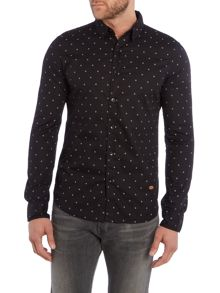 Shirt with printed stars