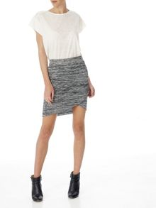 Red Soul Tulip textured skirt