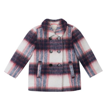 Esprit Girls Checked Duffle Coat