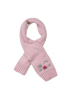 Baby girl knitted scarf