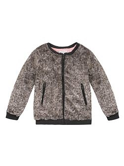 Girls Faux-Fur Sweatshirt