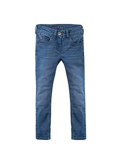 Girls Star Pocket Jeans