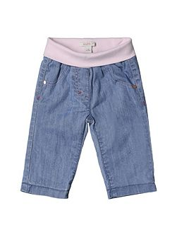 Baby Girls Denim Effect Trousers