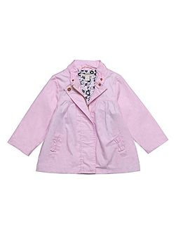 Baby Girls Waterproof Jacket with Bow