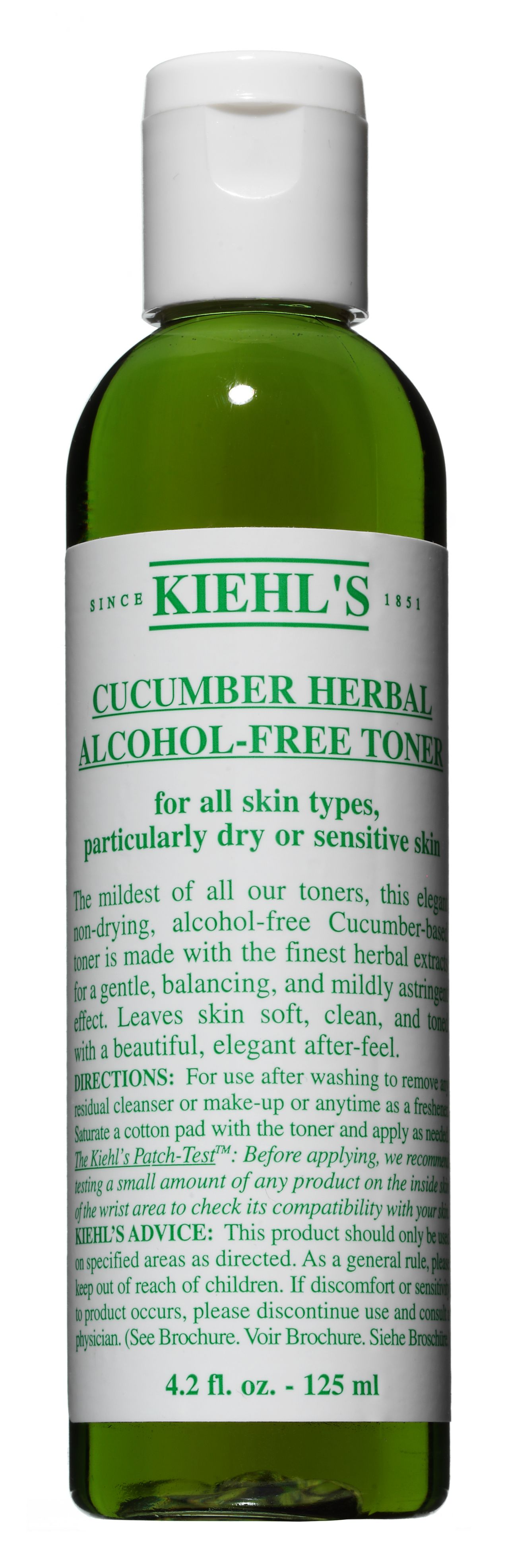 Cucumber Herbal Alcohol-Free Toner, 250ml