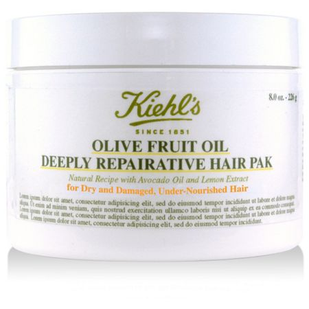 Kiehls Olive Fruit Oil Deep Repairing Masque, 250ml