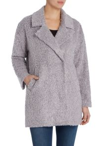 Vince Camuto Drop shoulder boucle coat