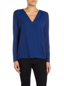 Wrap Front Blouse Top