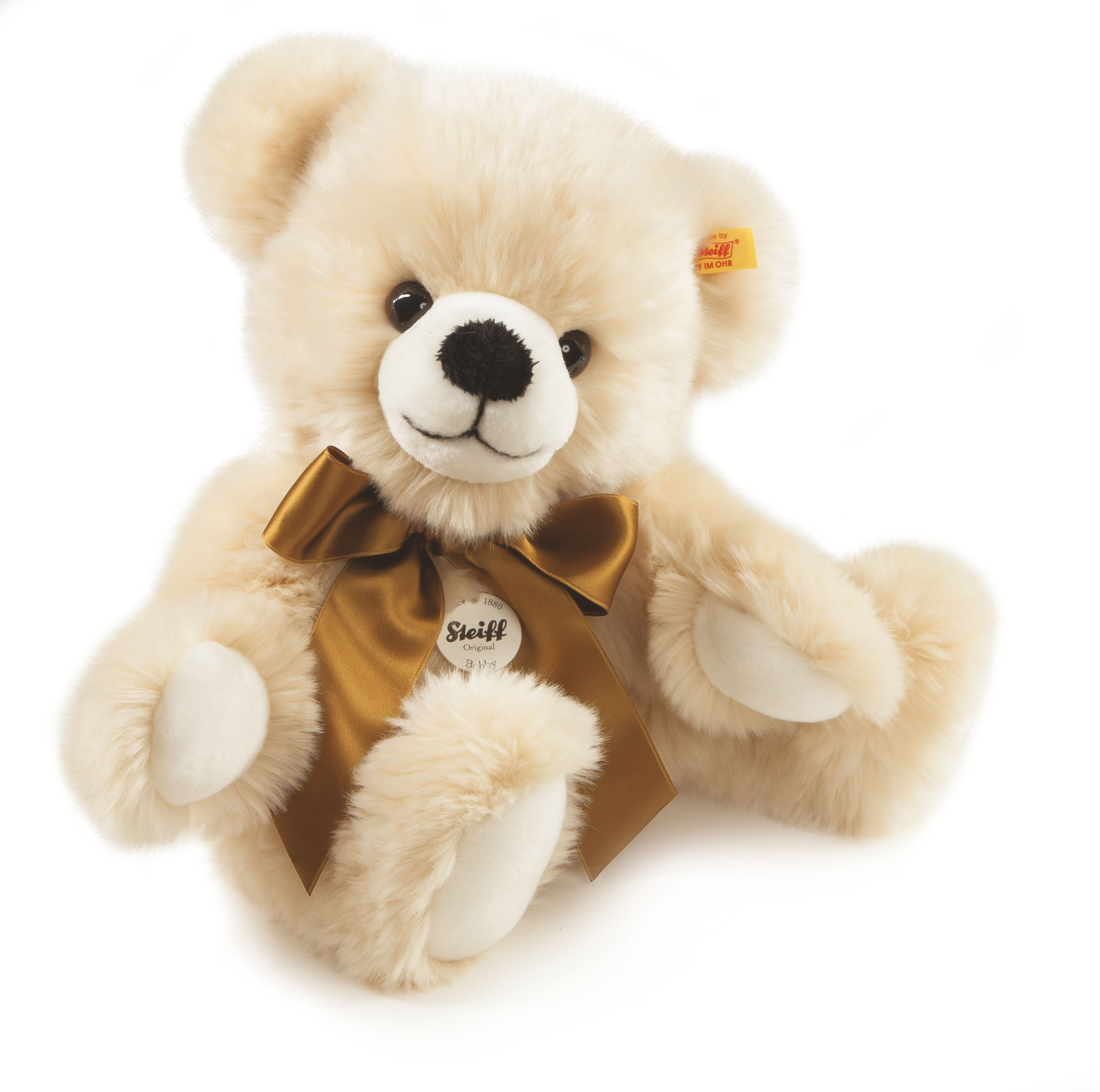Bobby dangling teddy bear cream 013478