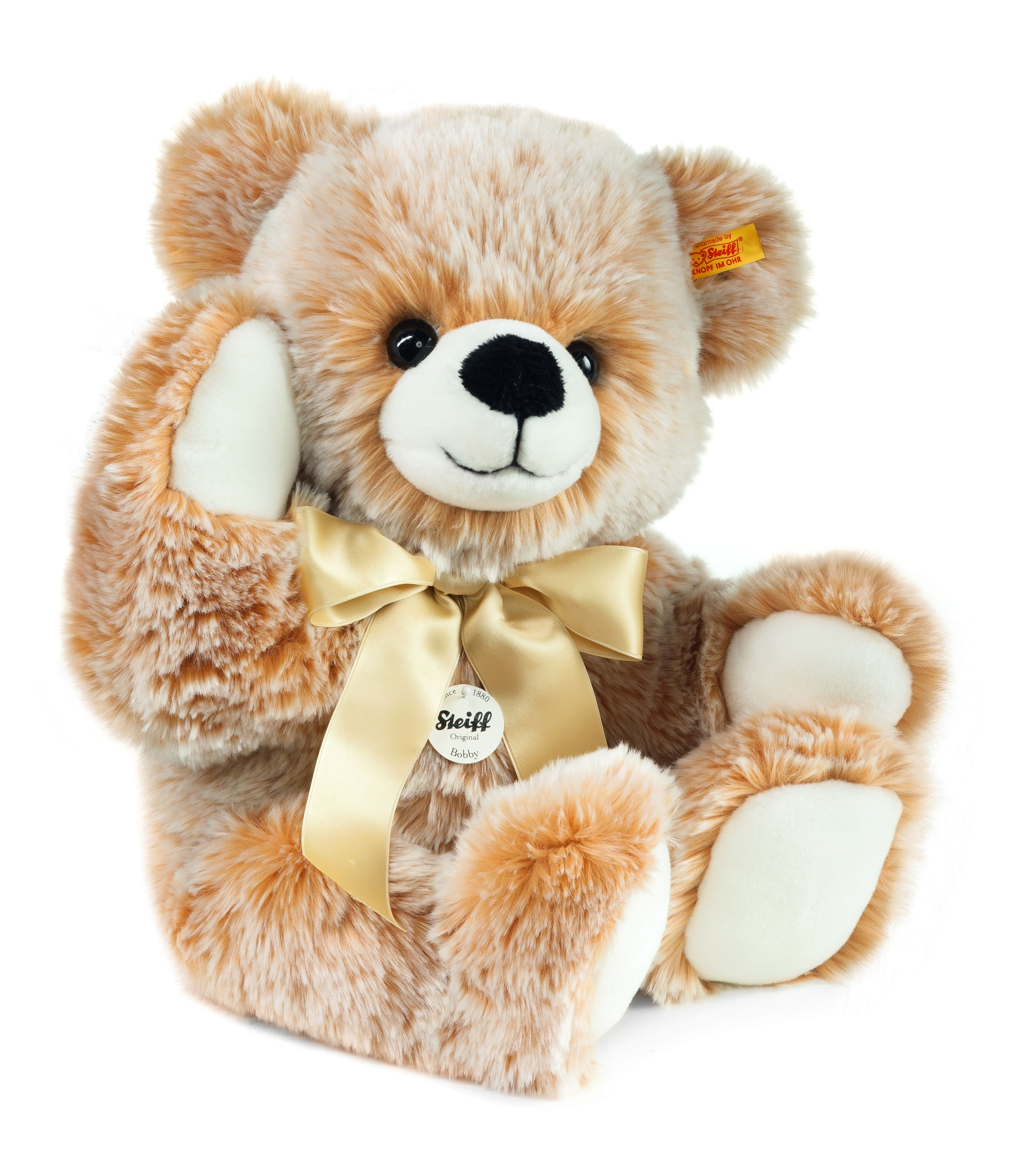 Bobby dangling teddy bear brown tipped 013539