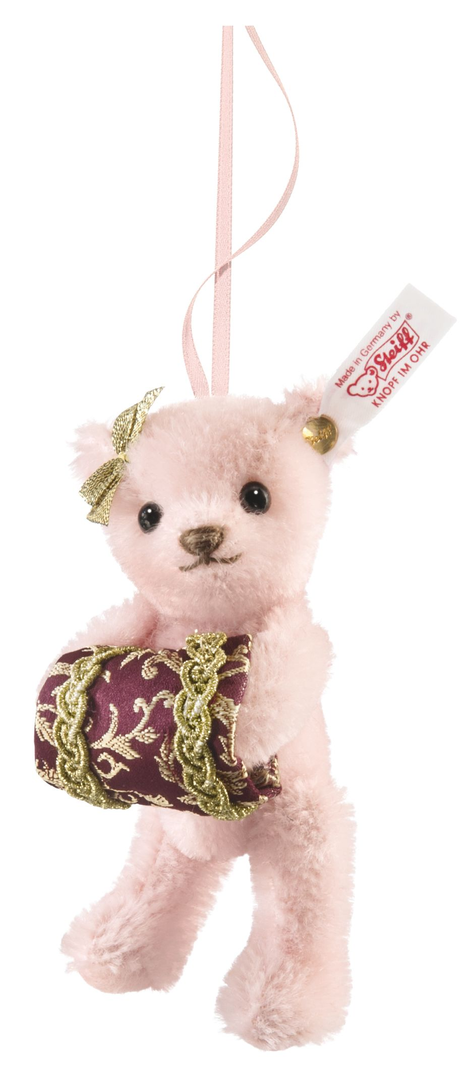 Steiff Teddy bear Emma ornament, pale pink (03483