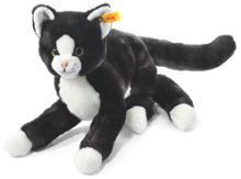 Mimmi cat, black/white, 30cm 099366