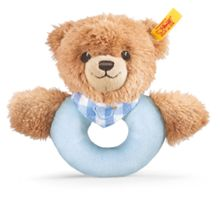 Sleep well bear grip toy, blue 239601