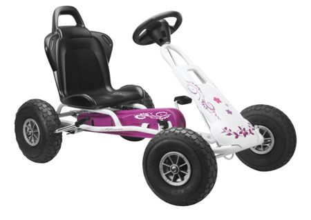 Ferbedo Air Runner Go Kart - Pink & White