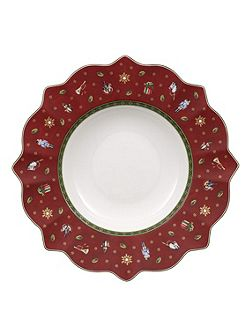 Toy`s Delight deep red plate