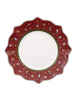 Toy`s Delight red flat plate