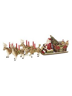 Santa`s sleigh candle holder ornament