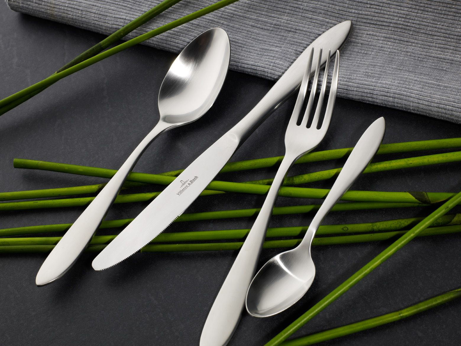 Arthur brushed cutlery set, 24 pieces