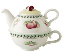 Villeroy & Boch French garden tea for one, cup & pot