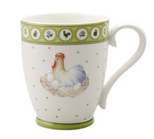 Farmers spring rooster and hen mug