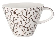 Caffe club floral mocha white coffee cup