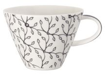Caffe club floral steam white coffee cup