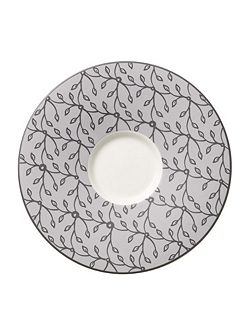 CaffeClub Floral steam saucer for white coffeeCup