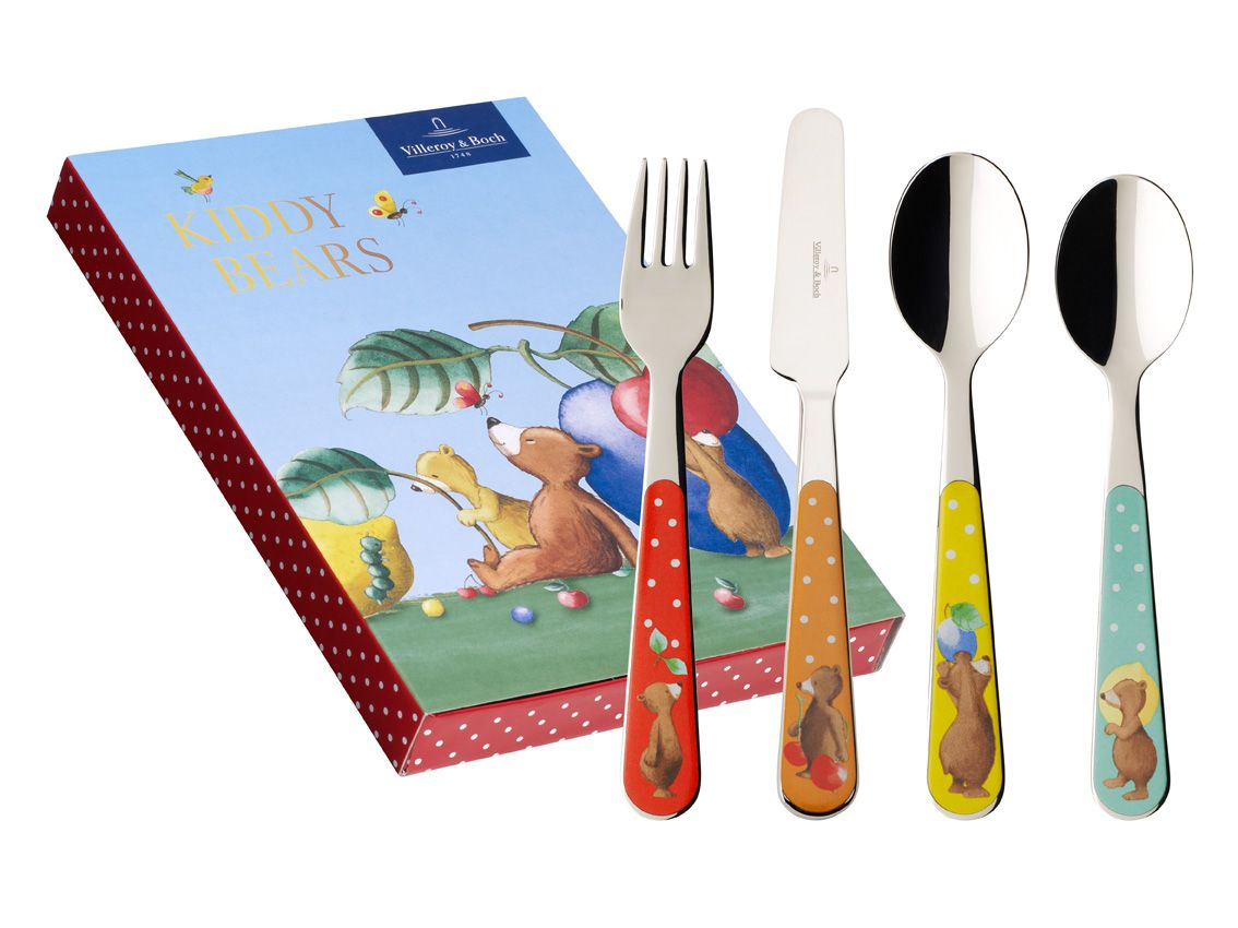 Kiddy bears 4 piece cutlery set