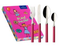 Play! pink 4 piece cutlery set