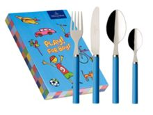 Play! blue 4 piece cutlery set