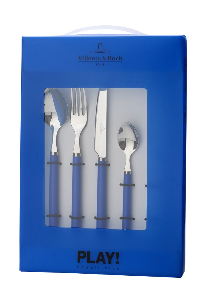Play! hawaii blue` 24 piece cutlery set