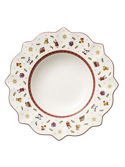 Toys delight white deep plate