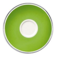 Anmut forest green saucer coffee cup