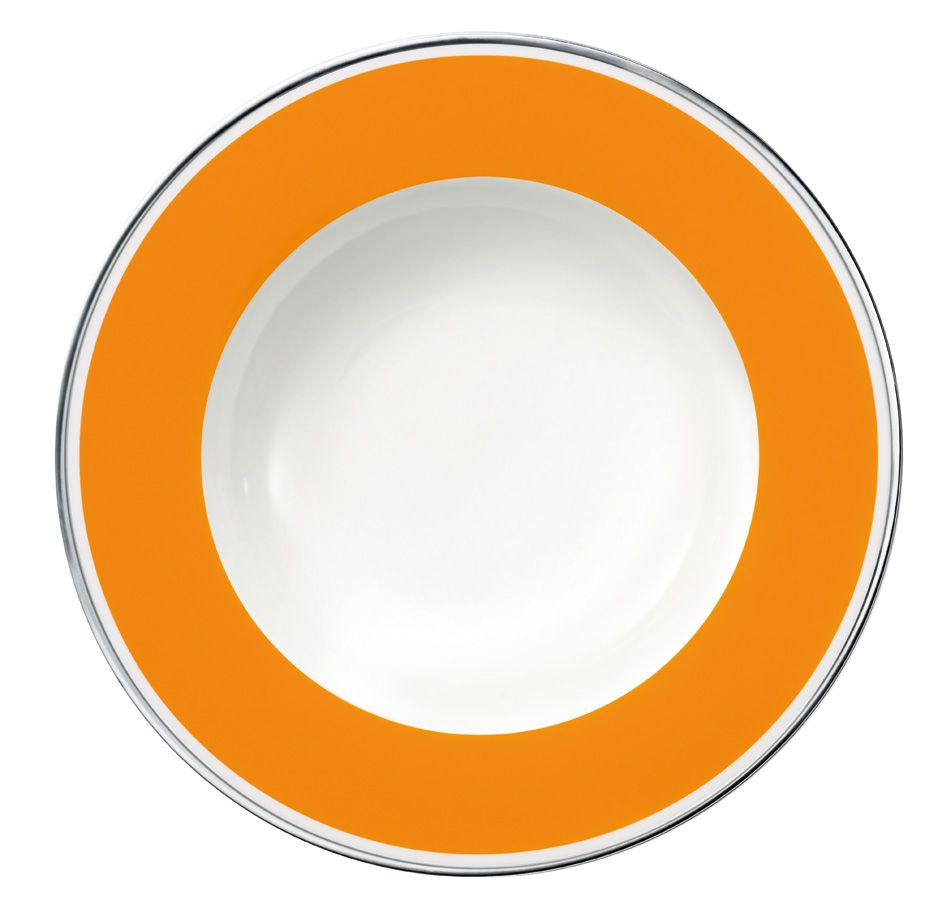 Anmut orange sunset deep plate 24cm