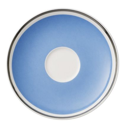 Villeroy & Boch Anmut my colour sky blu coffee cup saucer
