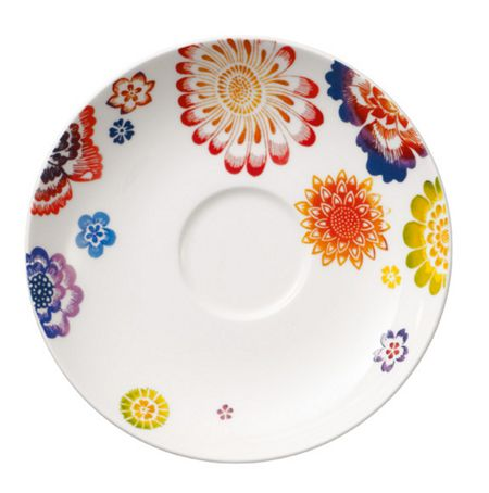 Villeroy & Boch Anmut bloom coffee saucer 15cm