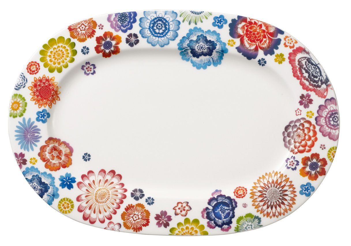 Anmut bloom oval platter 34cm