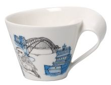 New wave caffe Sydney white coffee cup