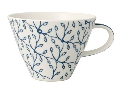 Floral cornflower white coffee cup 0.39l