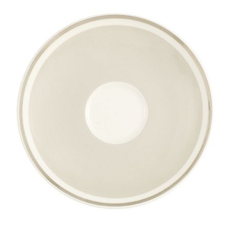 Villeroy & Boch Anmut savannah cream coffee saucer 15cm