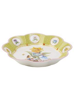 Spring decoration bowl large, bunny school